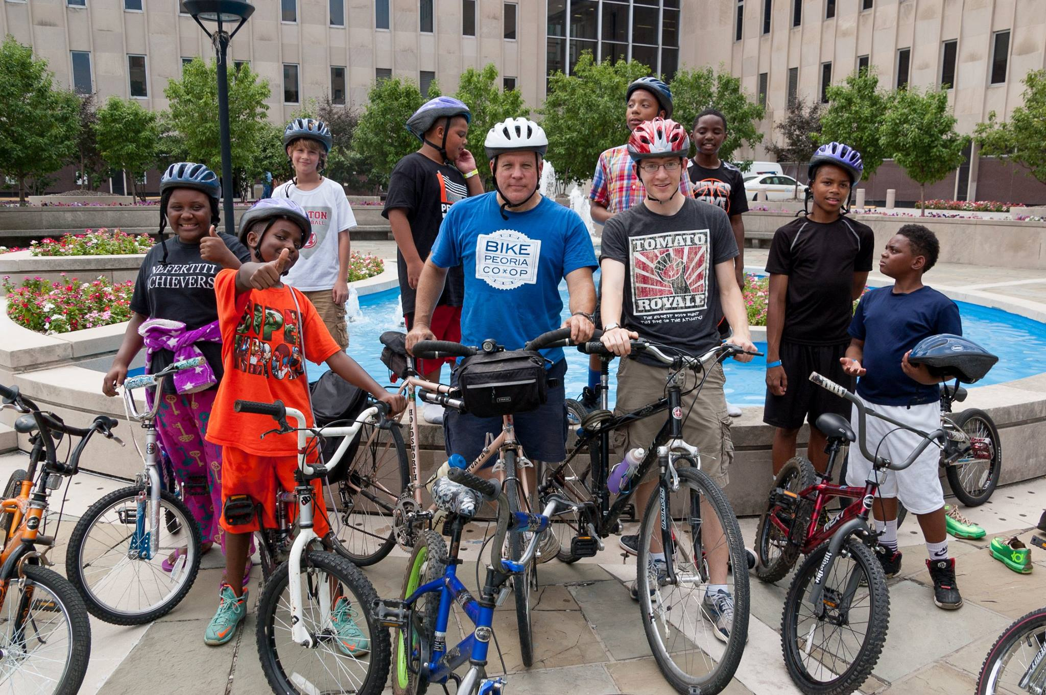 The summer cohort of Bike Peoria Co-op's Earn-a-Bike program through Dream Center.