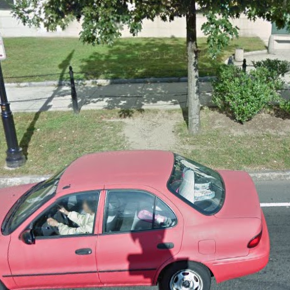 Desire Path in 2012, Google Street View