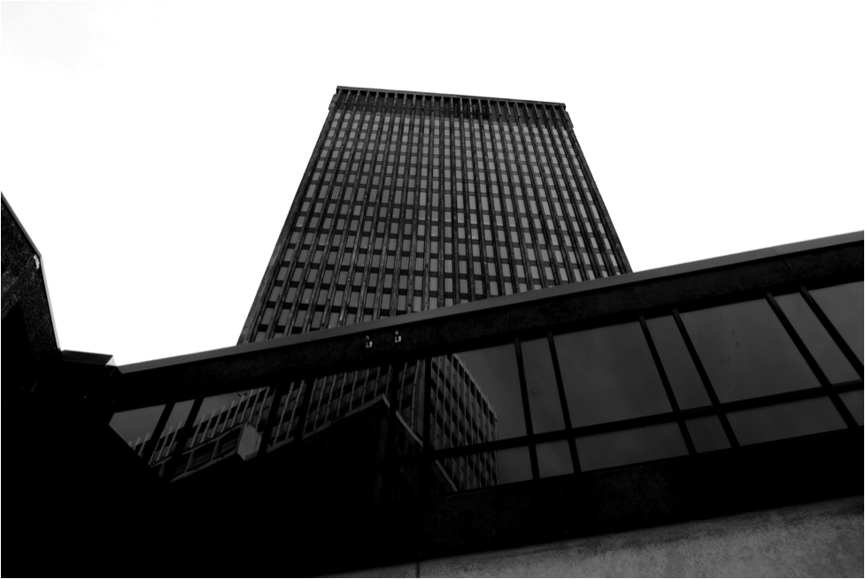 Xerox Tower reflects  Tower 280 , pre-redevelopment. (Photo by Austin Maitland.)