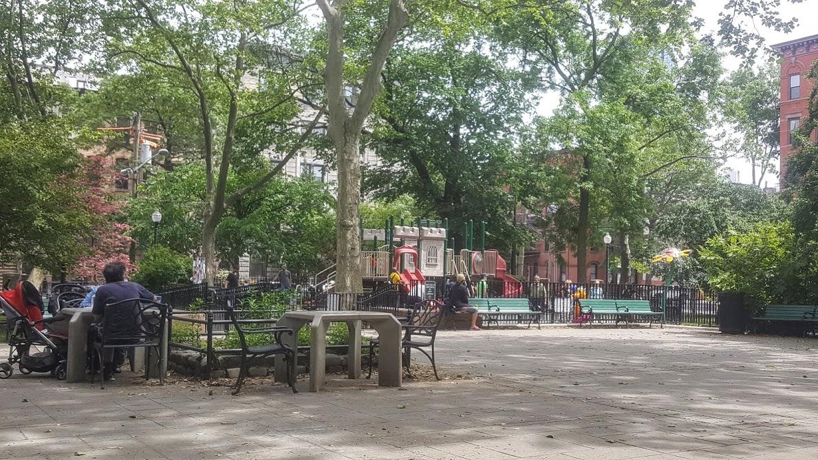 Van Vorst Park in Jersey City, NJ. Always full of activity.