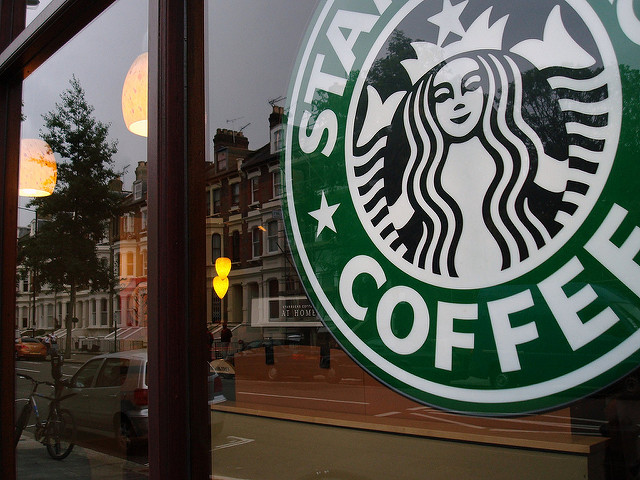 Many people view the opening of chain businesses like Starbucks as a signifier of gentrification. (Source:  lilivanili )