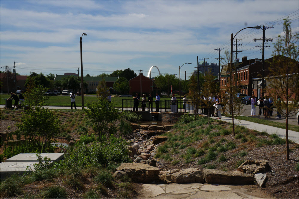 A rainscaping project in North St. Louis (Source:Project Clear)
