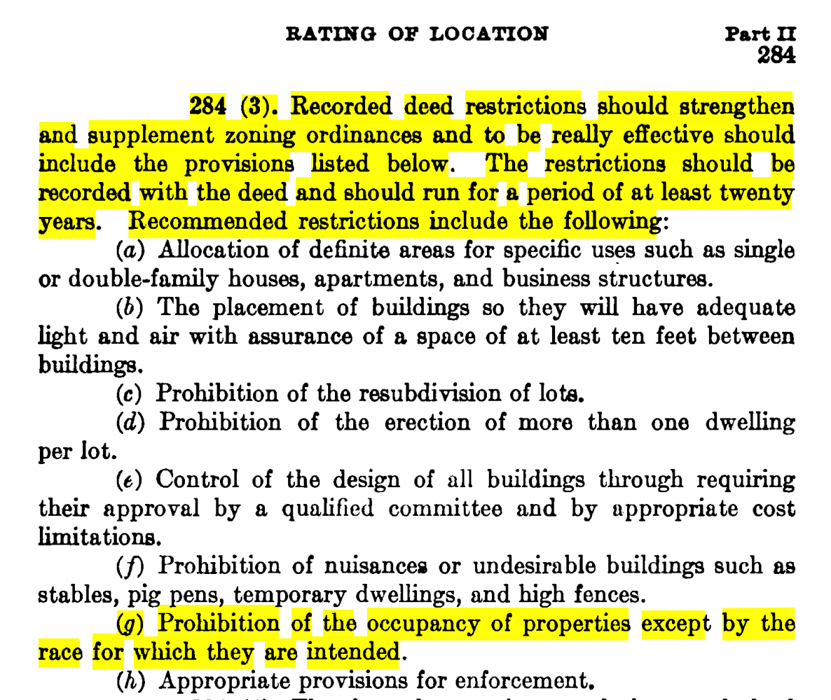 Excerpts from 1936 FHA Underwriting Manual