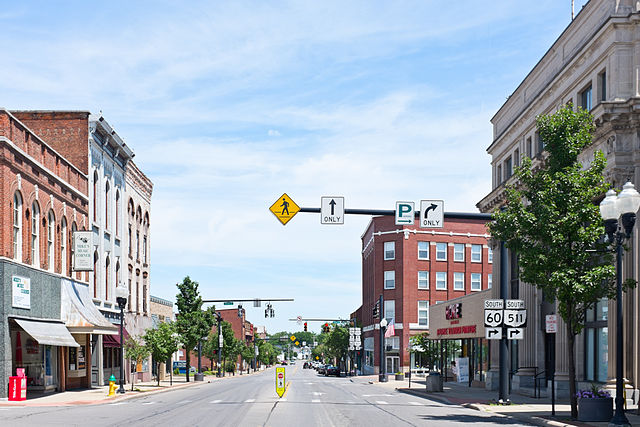 A mix of uses on Main Street in Ashland, Ohio. (Source:  LI1324 )