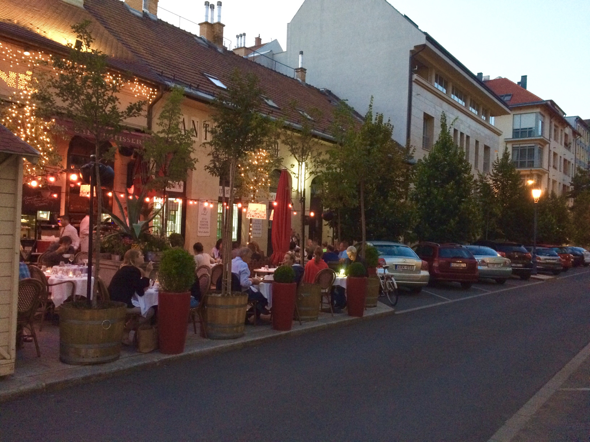 Outdoor dining in Budapest, Hungary (Photo by Sarah Kobos)