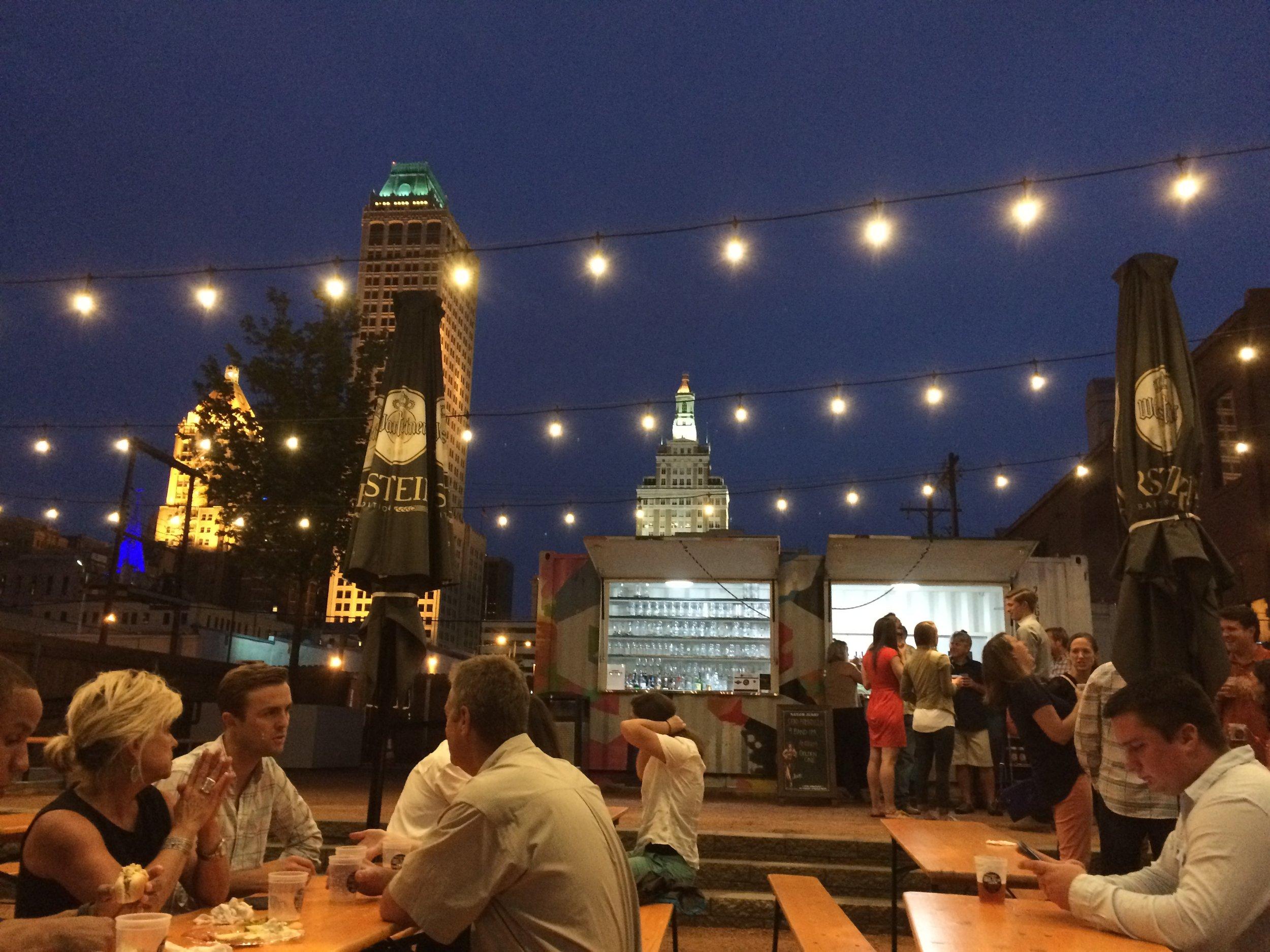String lights working magic in Tulsa, OK. (Photo by Sarah Kobos)