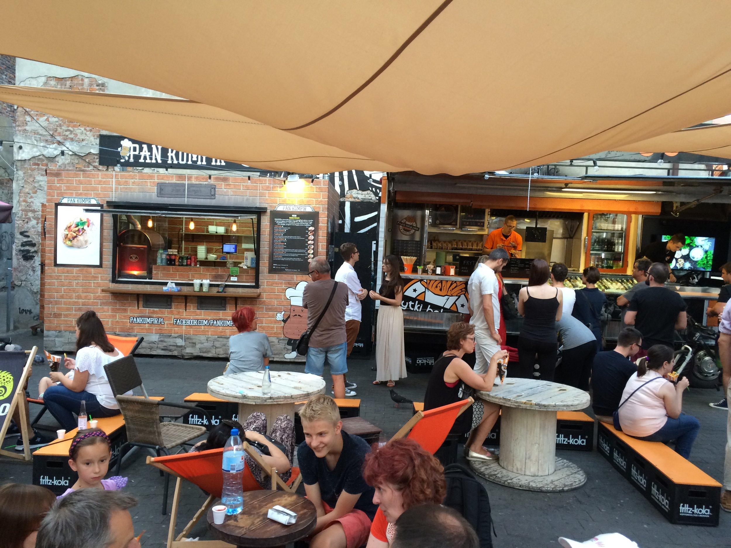 Food court in Krakow, Poland (Photo by Sarah Kobos)