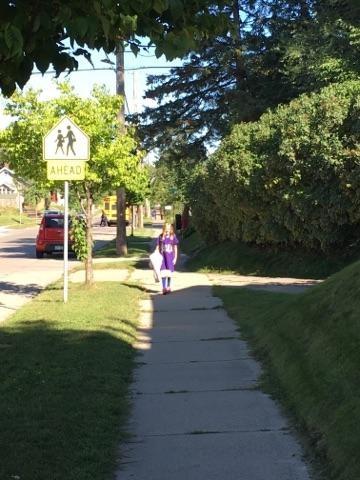 Walking to school (Source: Nikki Nafziger)