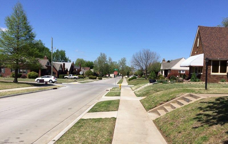 A neighborhood looks naked without street trees. (Source: Sarah Kobos)