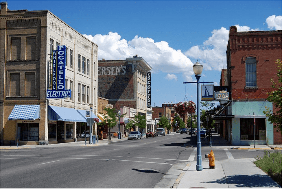 Old Town Pocatello, ID (Source: Roadside pictures)