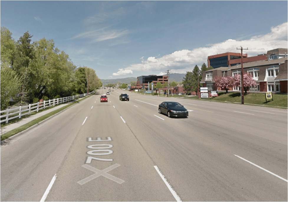 Arterial Street - Carries relatively high amounts of car traffic. Minimal pedestrian accommodations. Side streets and access points are limited in an attempt to maximize traffic flow. Arterials often fall prey to becoming Stroads. (Consideration should be given to converting these to Boulevards.)