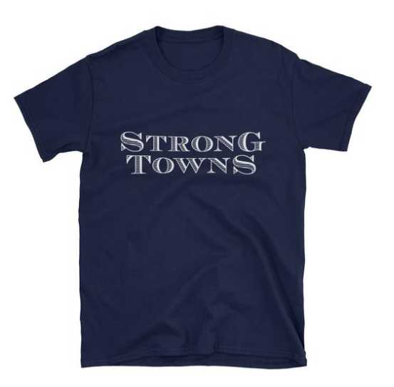 The Strong Towns T-Shirt in Navy