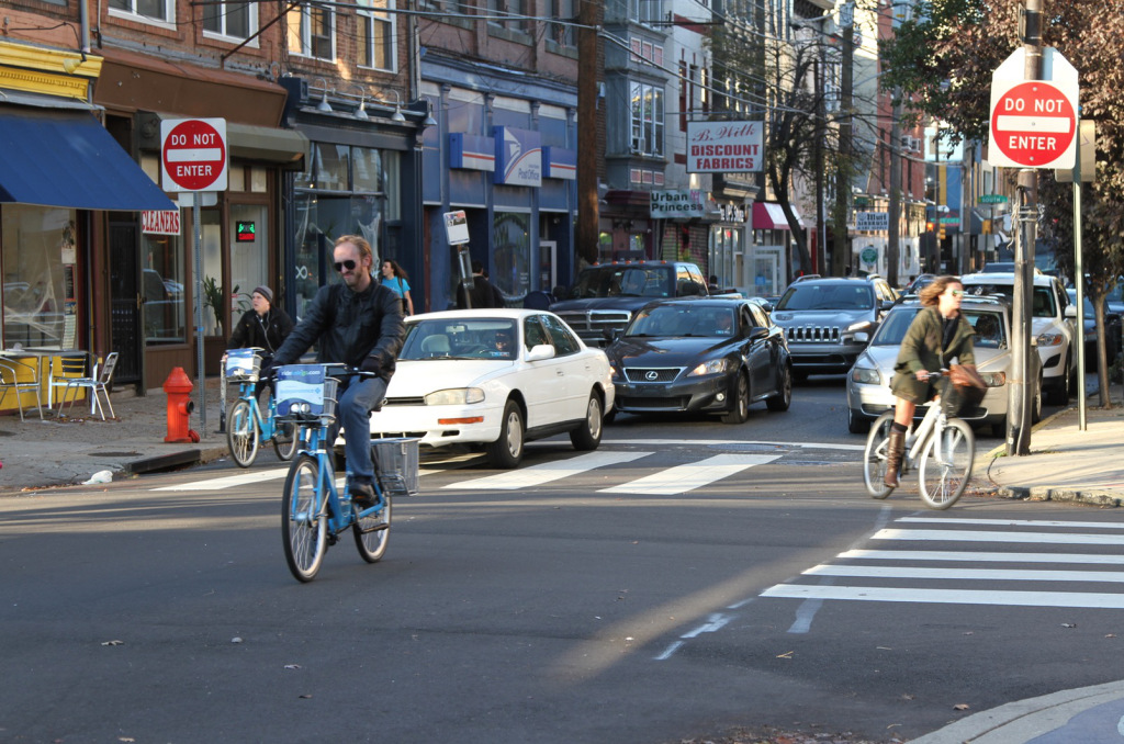 A city that offers different transportation options like driving, biking and walking is much better prepared for challenges like increasing gas prices and bad weather than a city that relies only on one mode of transportation. (Source: Johnny Sanphillippo)