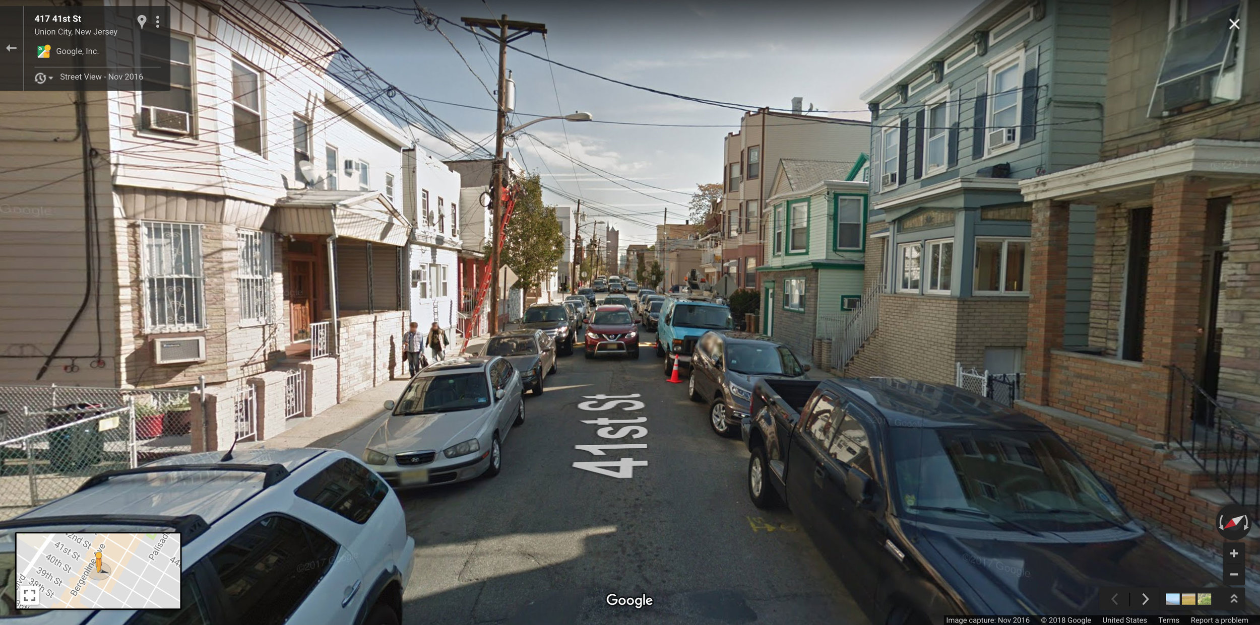 What 51,810 people per square mile looks like at street level.