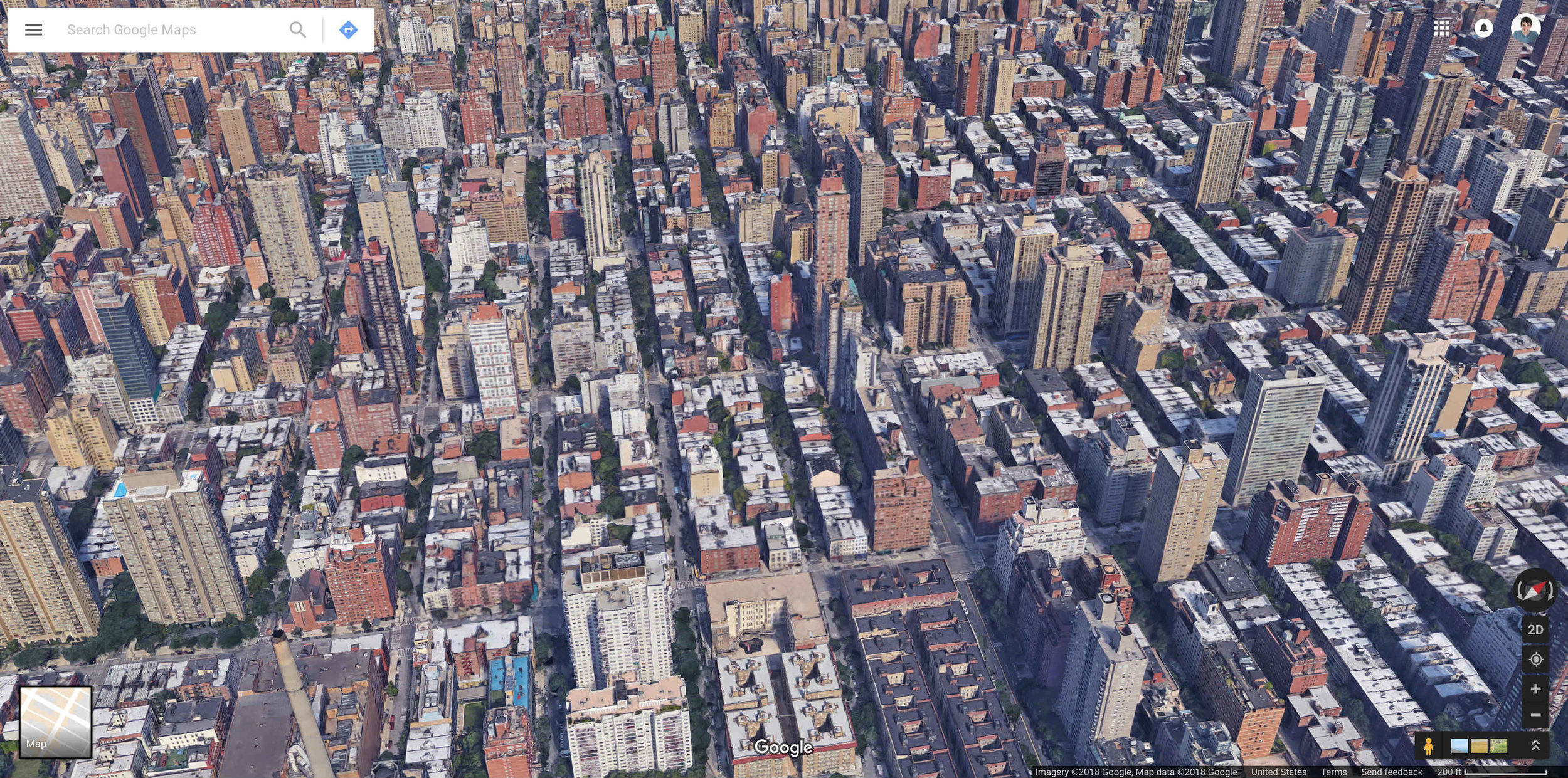 Aerial view of 10162 in Manhattan.