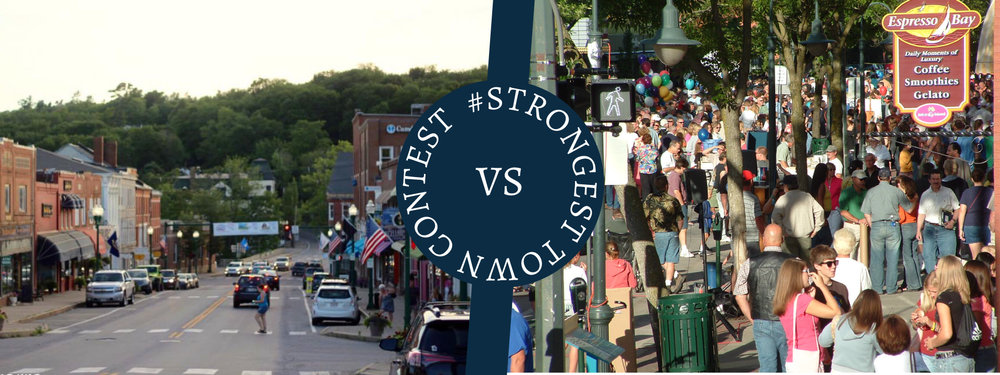 One of 2017's match-ups: Ellsworth, ME vs. Traverse City, MI.