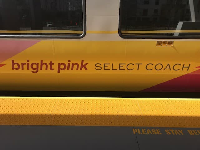 brightpink Select Coach. (Image by the author.)
