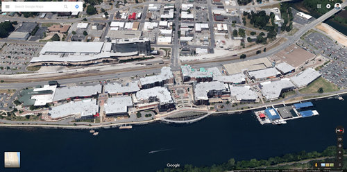 Aerial view of Branson Landing in Branson, MO. (Source: Google Maps)