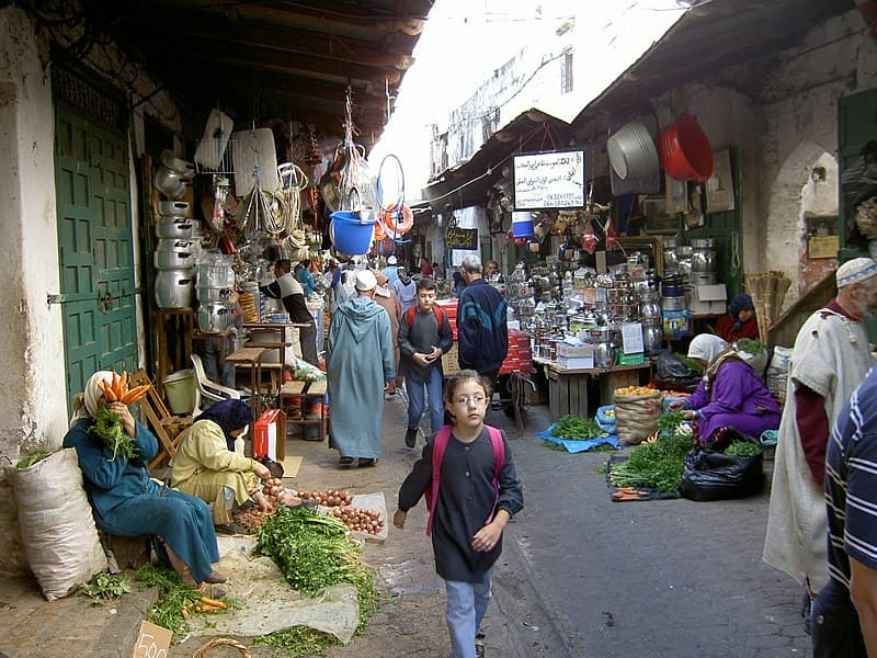 A Moroccan marketplace (Source:  the_th )