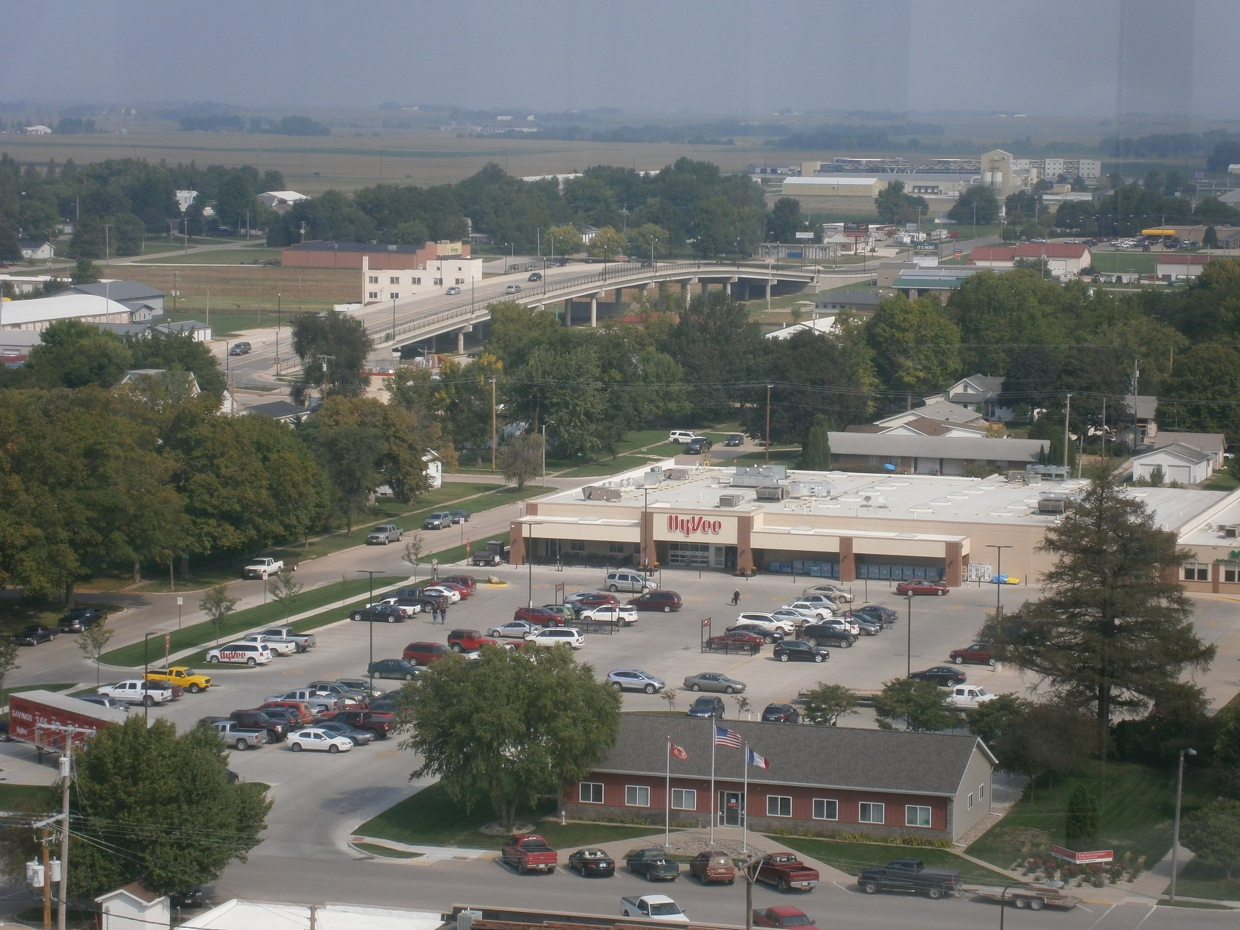 The local HyVee grocery store is located in town rather than out on the edge which makes it accessible by more modes of transportation than just cars.