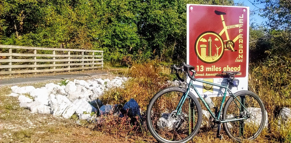 Jefferson's bike-friendly nature has roots in its location on the Raccoon River Valley Trail, a regional rail trail that connects the town to the state capital in Des Moines.