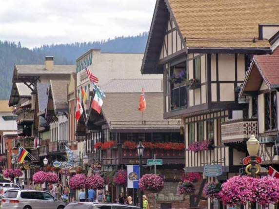 The town of Leavenworth, Washington, transformed itself by following a Bavarian theme and attracted significant tourism.