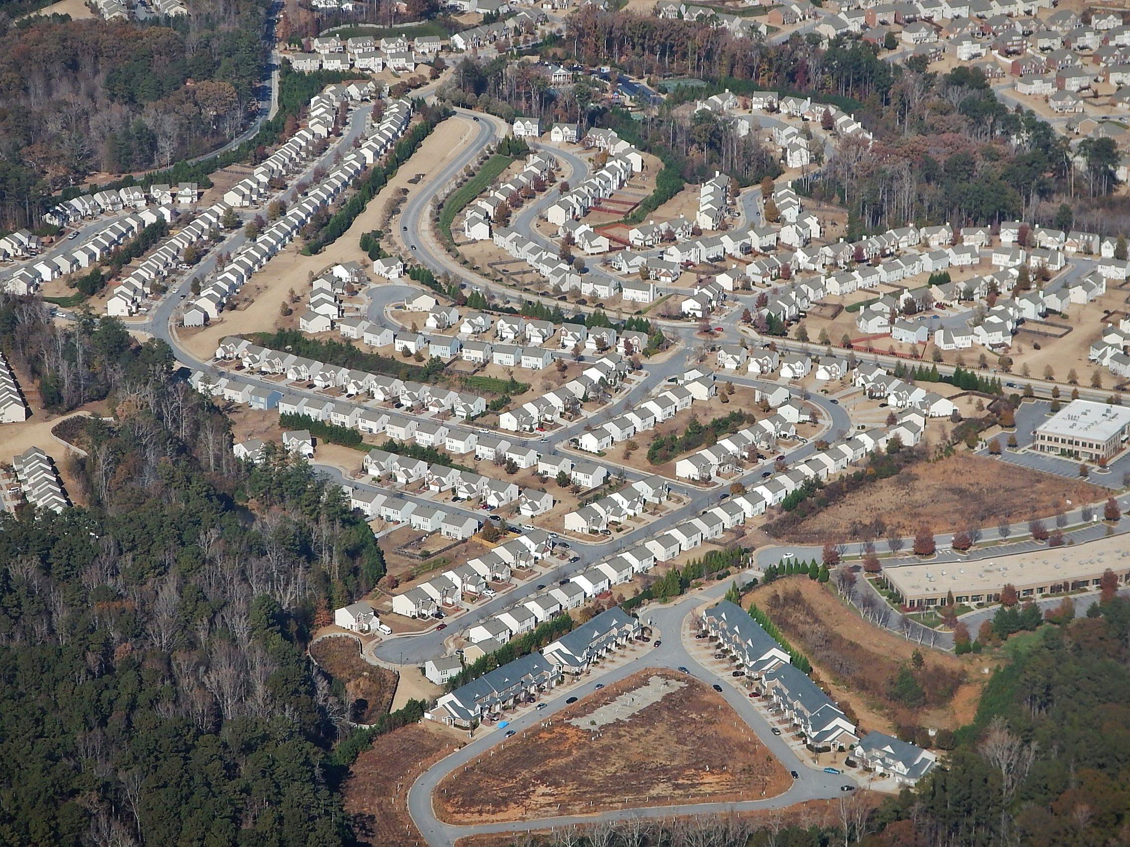 Suburban Atlanta (Source: Wikimedia Commons)