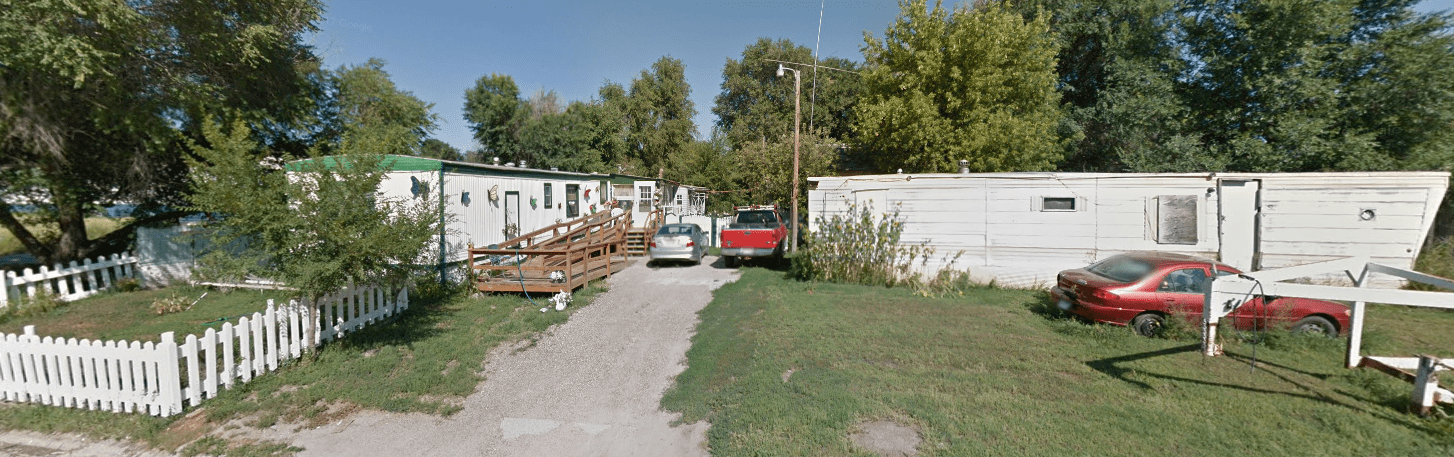 Because of lack of access to capital and inability to own land, many Native people live in mobile homes as that's the easiest form of housing to secure a bank loan for. (Source: Google Maps)
