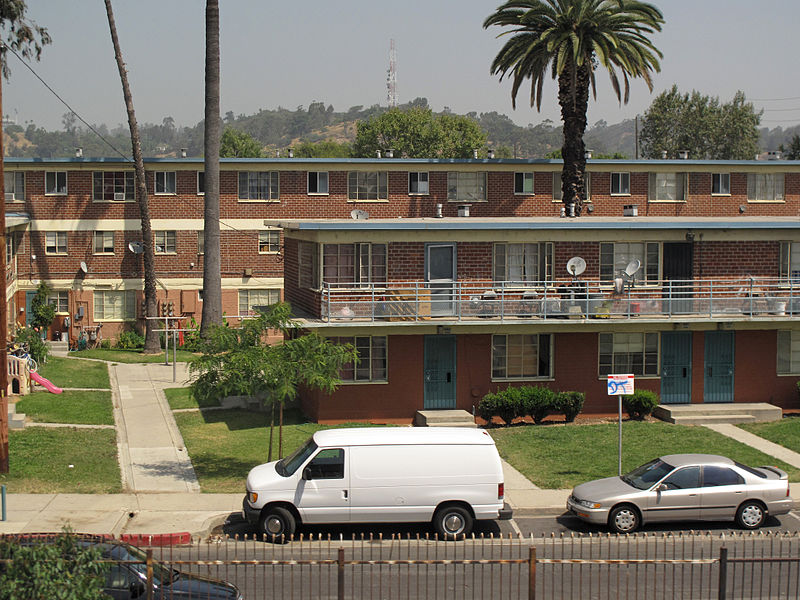 Modest public housing apartments in Los Angeles (Source: downtowngal)