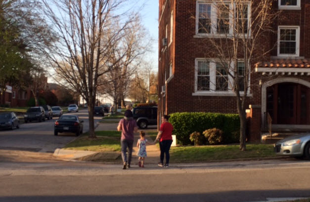 Apartments contribute to the tapestry of the neighborhood. (Photo by Sarah Kobos)