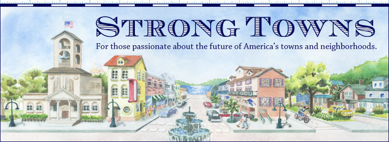The original Strong Towns logo and website header