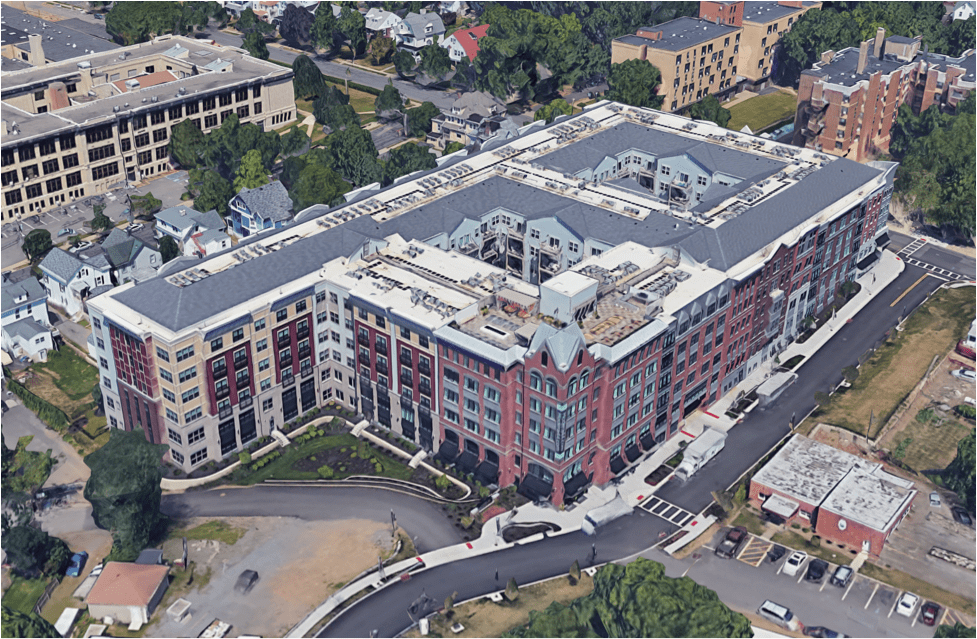 A mixed-income development in Morristown, New Jersey