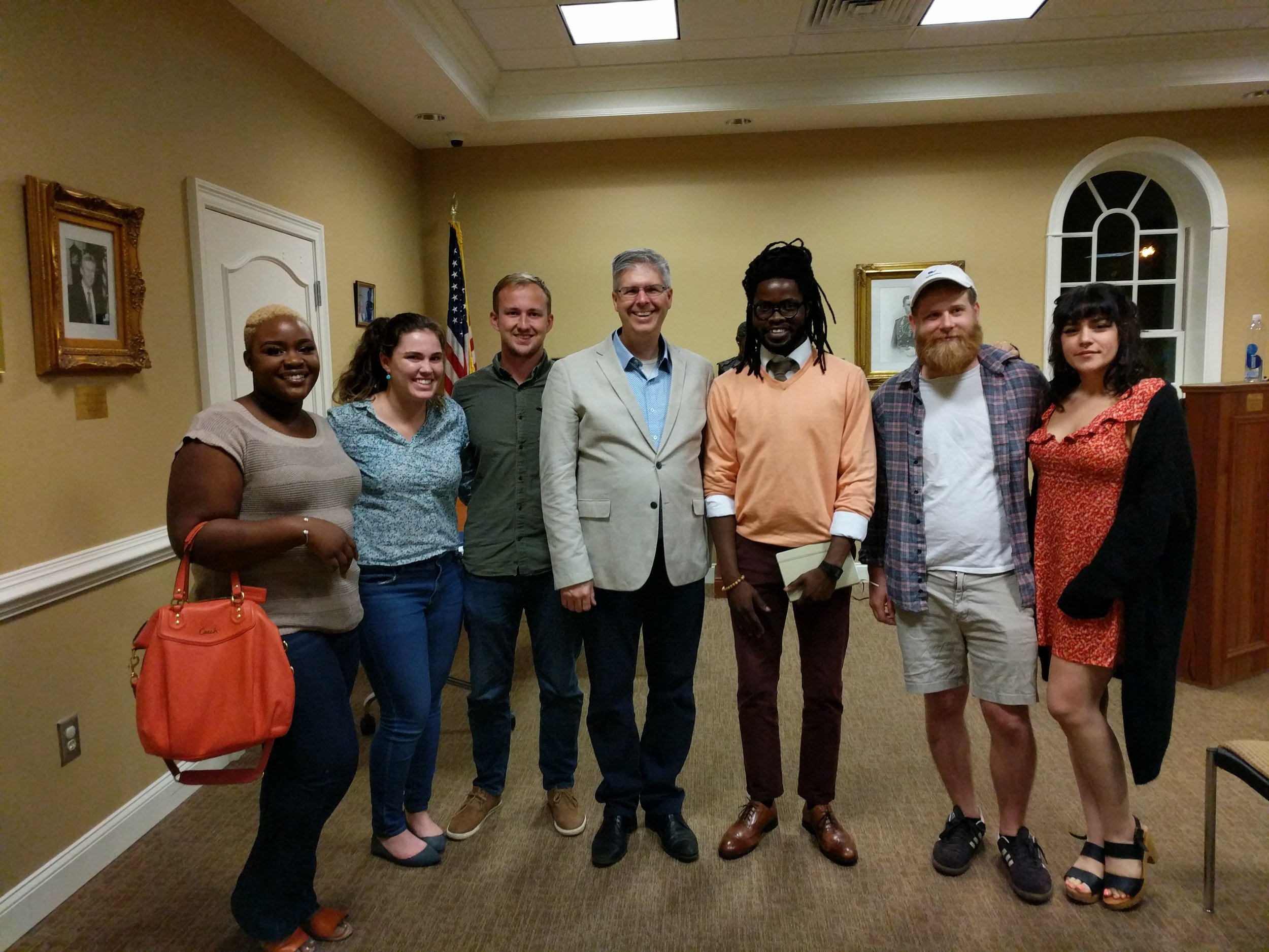A group of students and strong citizens at a recent Strong Towns event in Thomasville, GA (Strong Towns president, Chuck Marohn, is center)