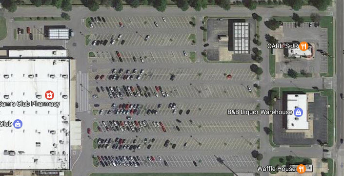 Does this seem like an efficient use of land to you? (Photo: Google maps.)