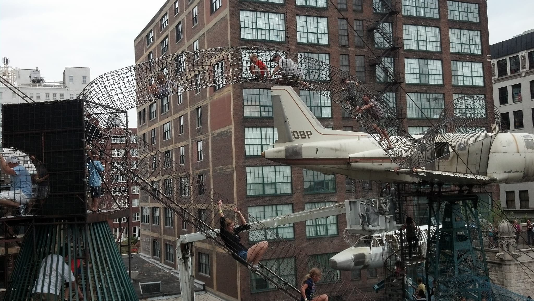 Climbing around at the City Museum (Source: andresmh )