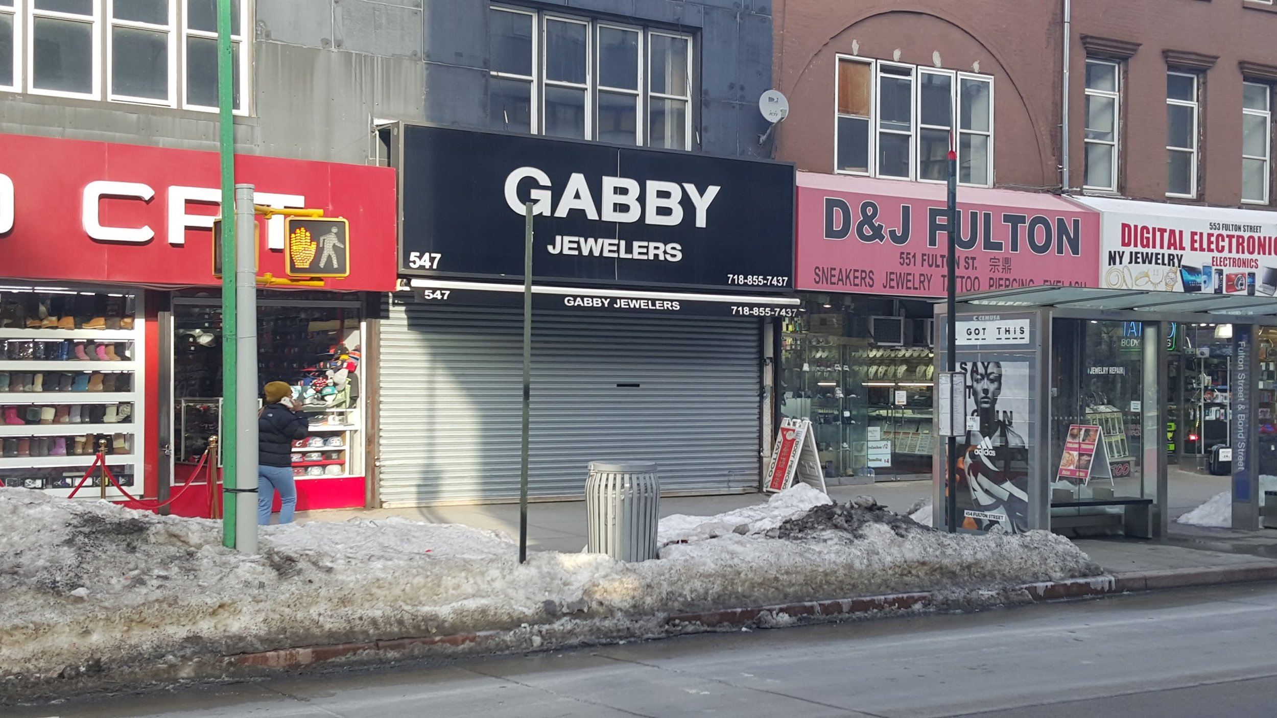 Small commercial tenants along the street in Brooklyn.