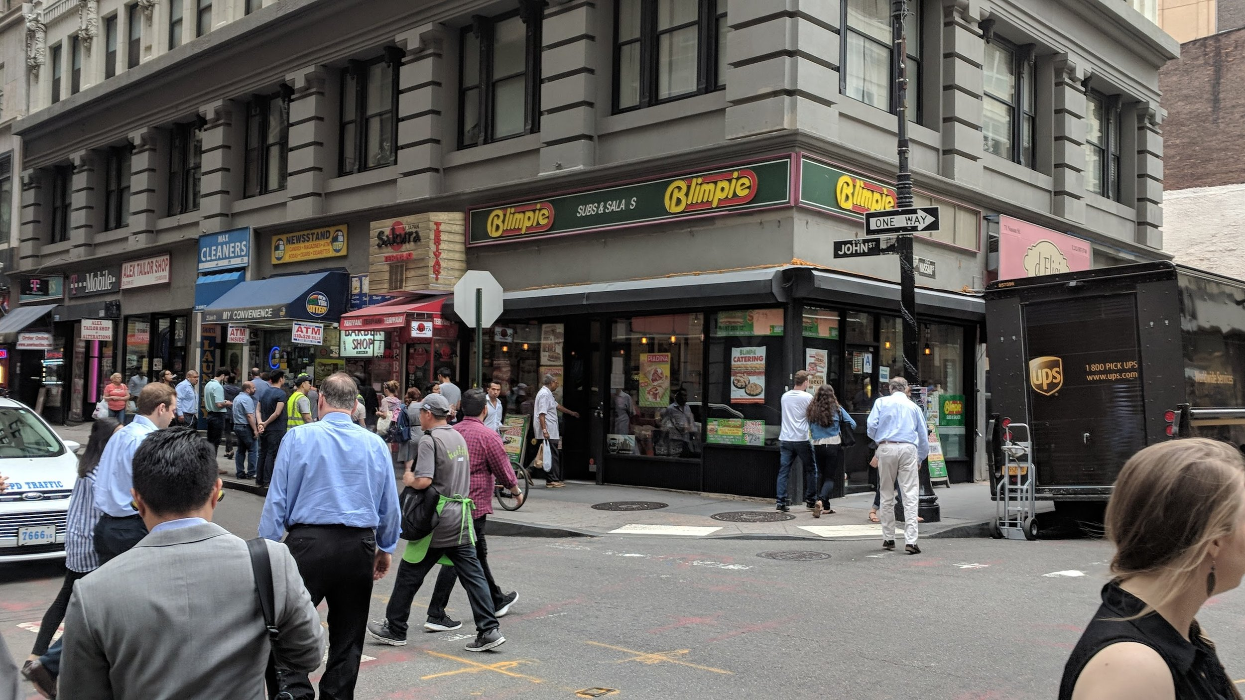 A good example of faux-granularity in Manhattan,where every retailer has the option to customize their front facade.