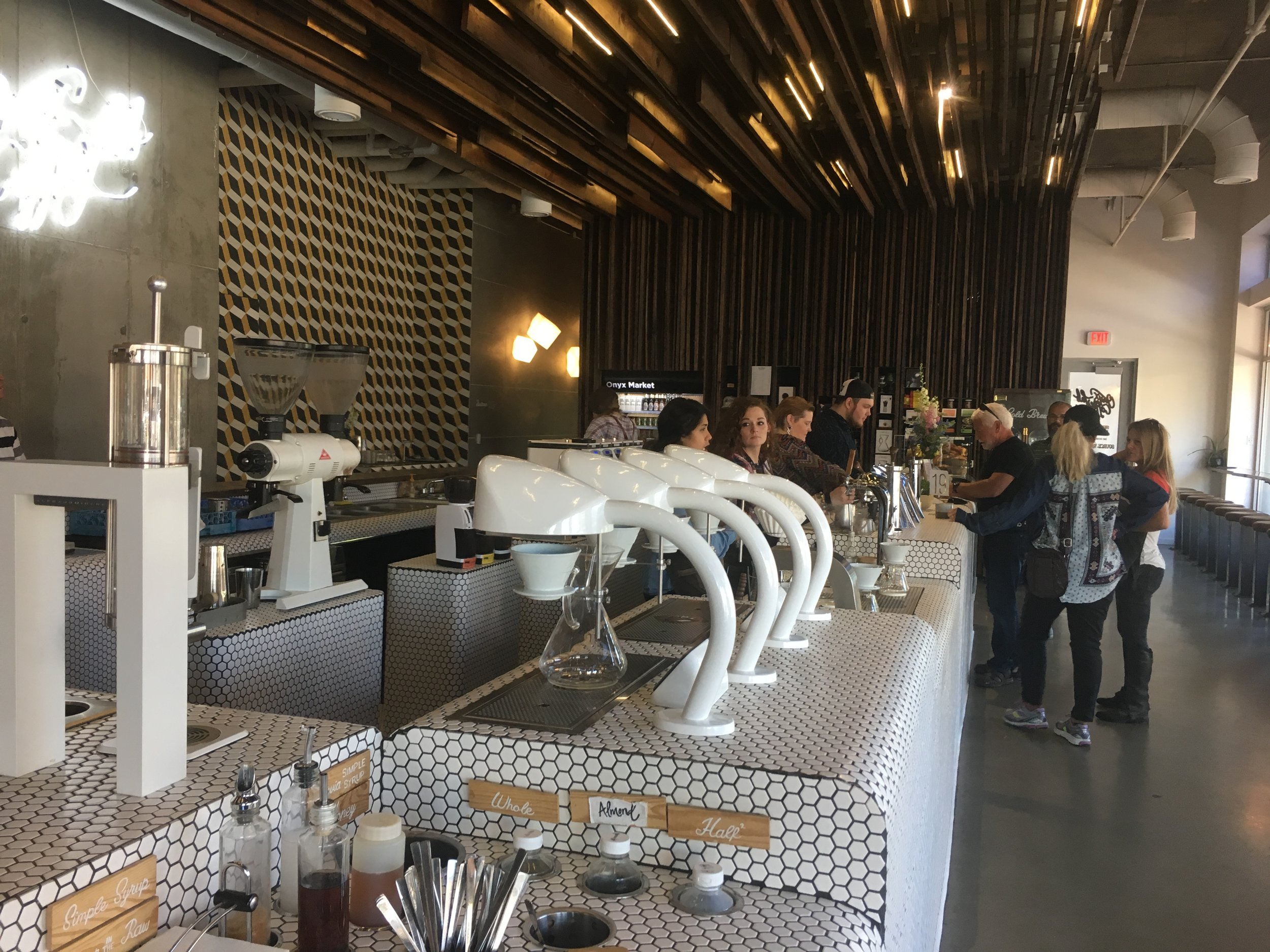 Onyx Coffee Lab, opened in 2015, is one of many new businesses to pop up as a result of the population surge. (Source: Aubrey Byron)