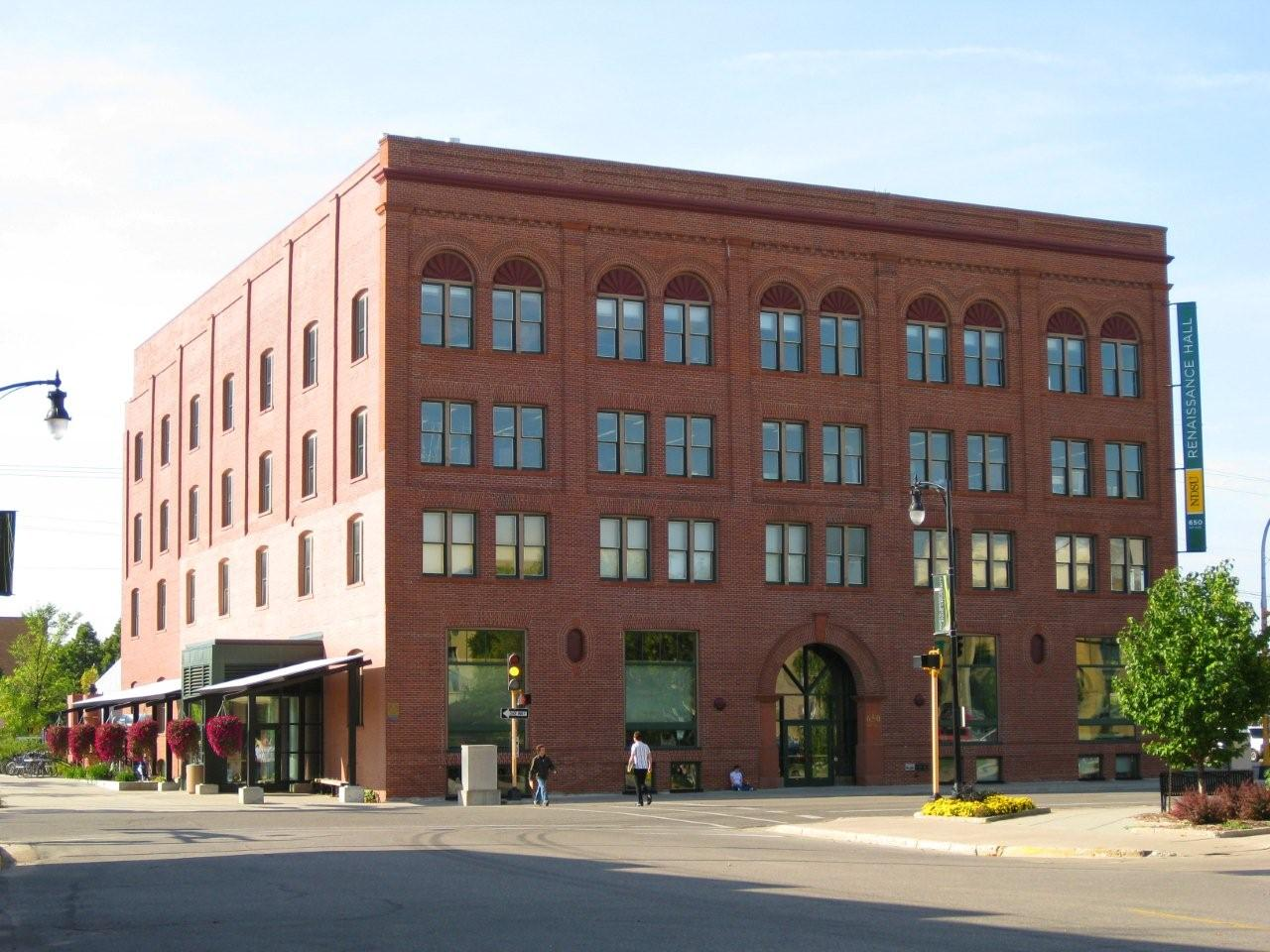 Renaissance Hall in downtown Moorhead is a former warehouse that's been transformed into a state-of-the-art facility housing North Dakota State's visual arts department and other university offices. (Source: Kilbourne Group)