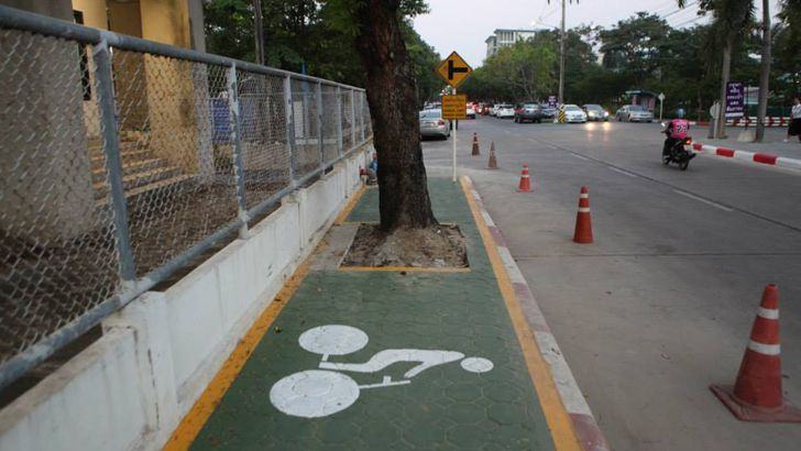 Don't be an idiot like the guys who built this bike lane. Test things out before you install them permanently. (Source:  Bicycling.com )