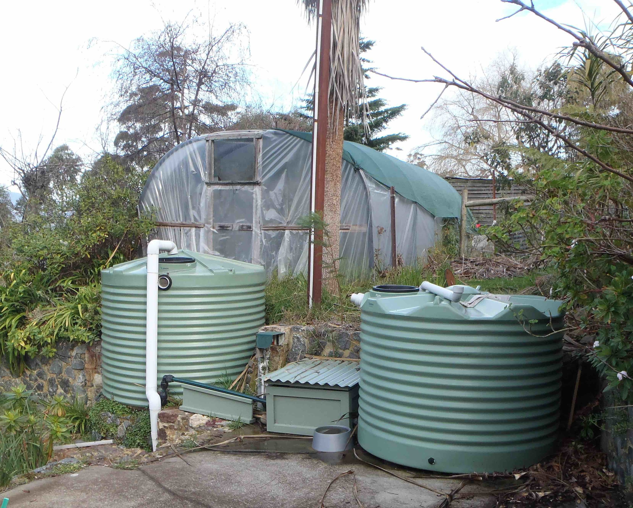 Rainwater storage tanks