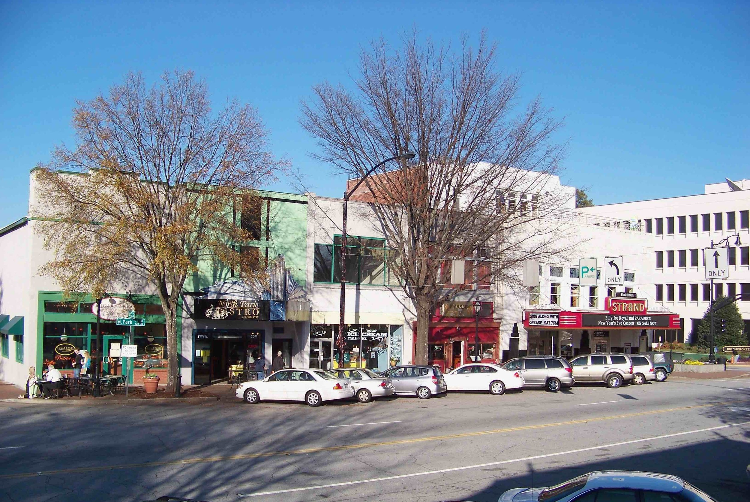 A small enclave of productive, human-scale development in downtown Marietta. (Source: Wikimedia Commons)
