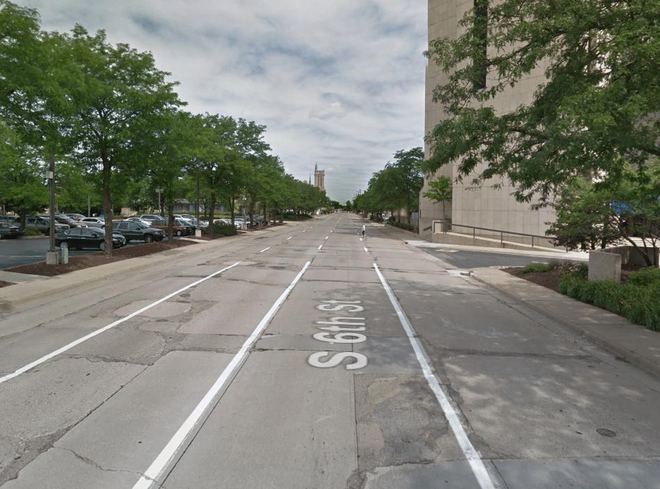 Empty road in Rockford, IL