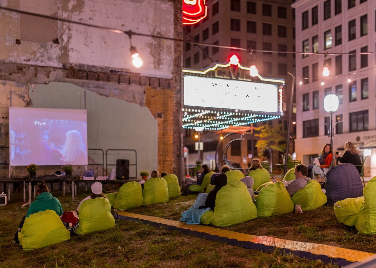 Public events making use of underutilized space can activate downtown streets.