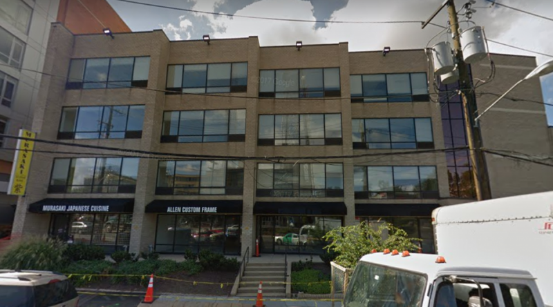 4620-4624 Wisconsin Ave. NW in Washington's Tenleytown neighborhood is currently vacant while  UIP works on  redeveloping it. It might be vacant for a long while, as some neighbors are  challenging the PUD permit in court. Screenshot from Google Street View by the author.