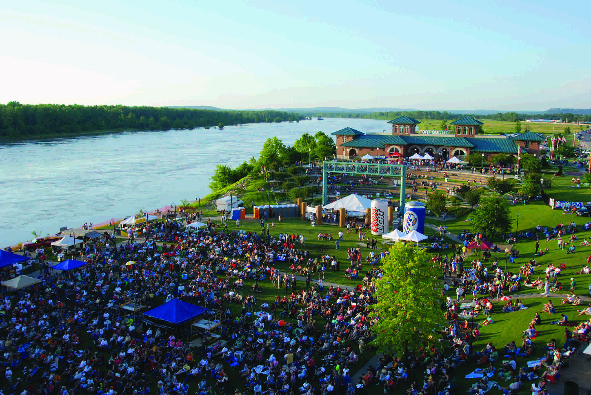 The inaugural Fort Smith Riverfront Blues Festival in 2018 (Source: 64.6 Downtown)