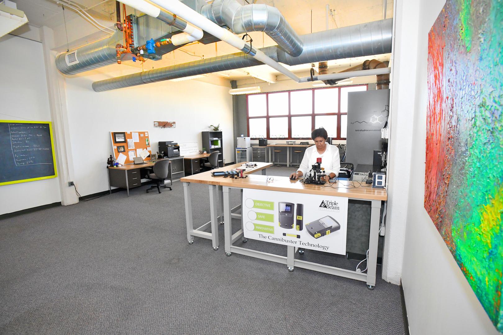 Triple Beam lab on 8th floor
