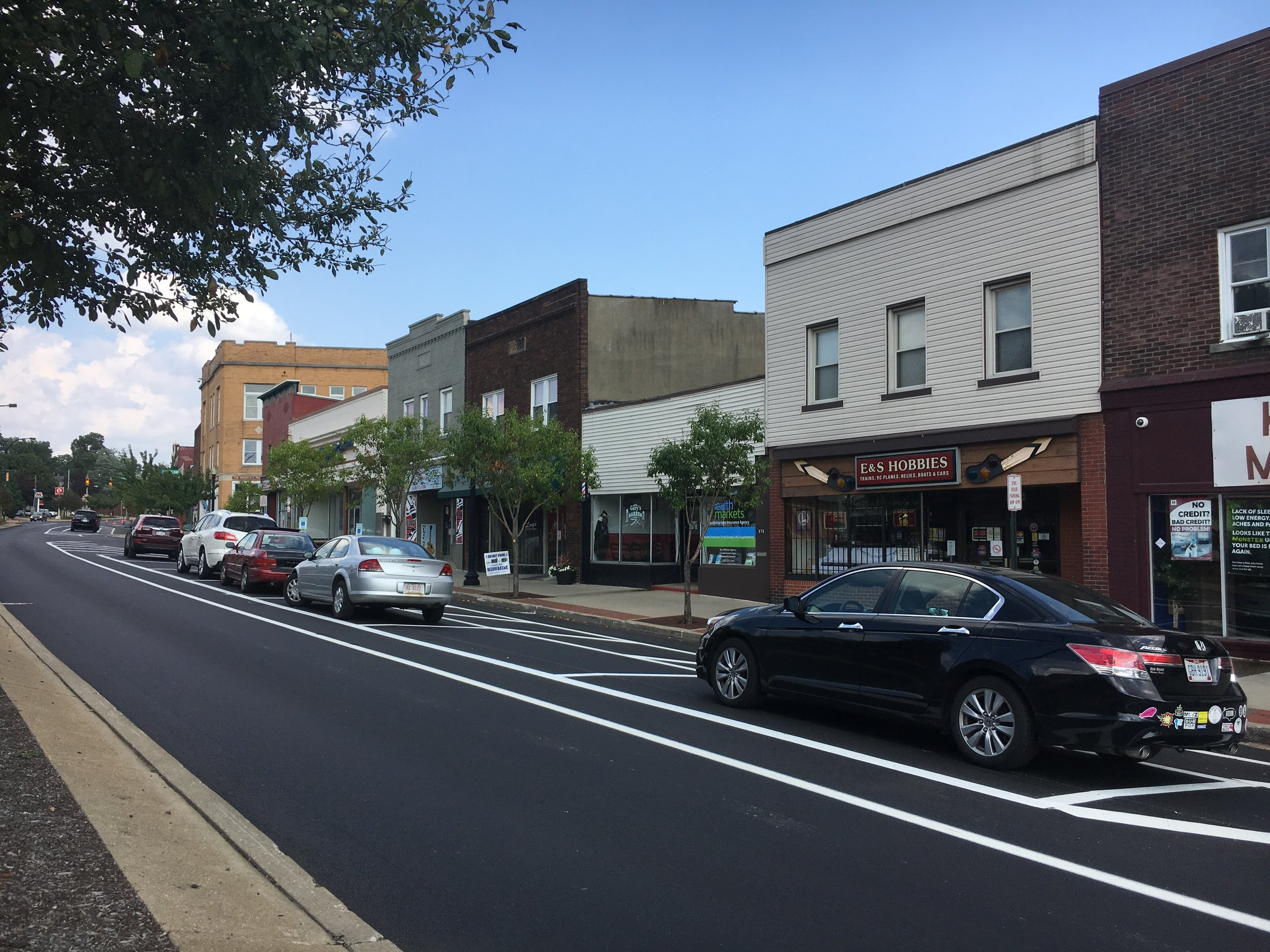Kenmore Boulevard after its recent reconfiguration. (Source: Kenmore Neighborhood Alliance)