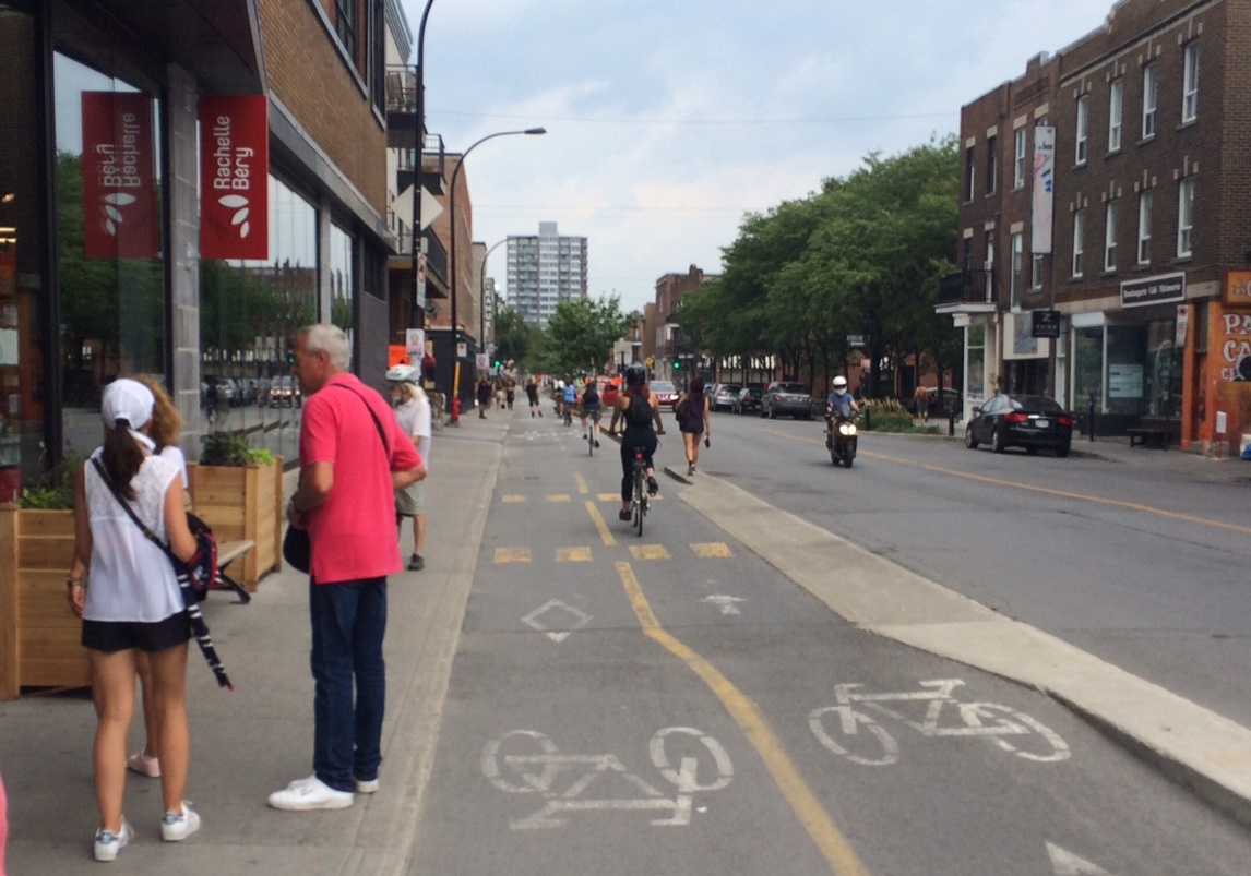 A street designed for people-oriented transportation. Photo by Sarah Kobos