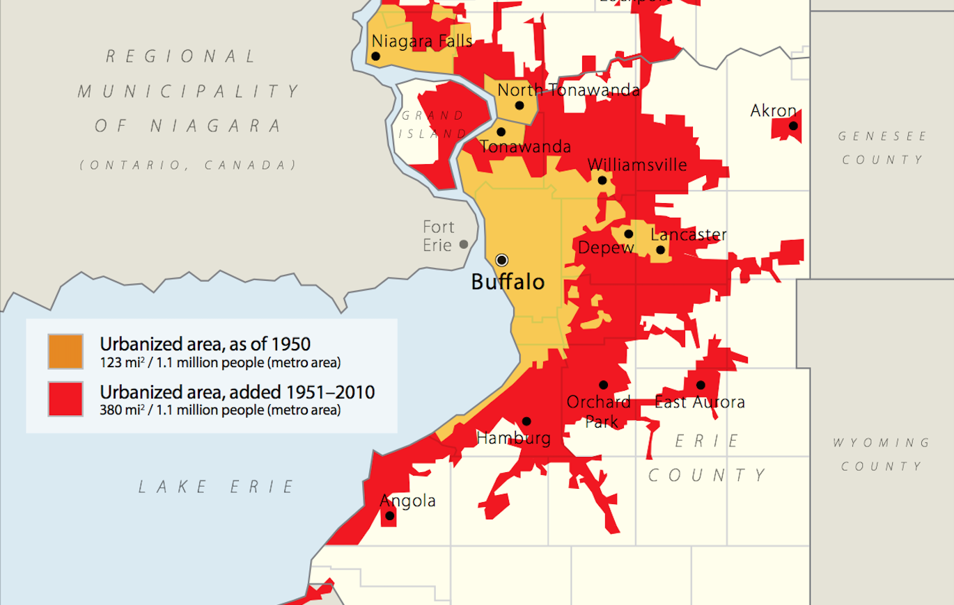 Metro Buffalo: physical growth without population growth. (Rise Collaborative)